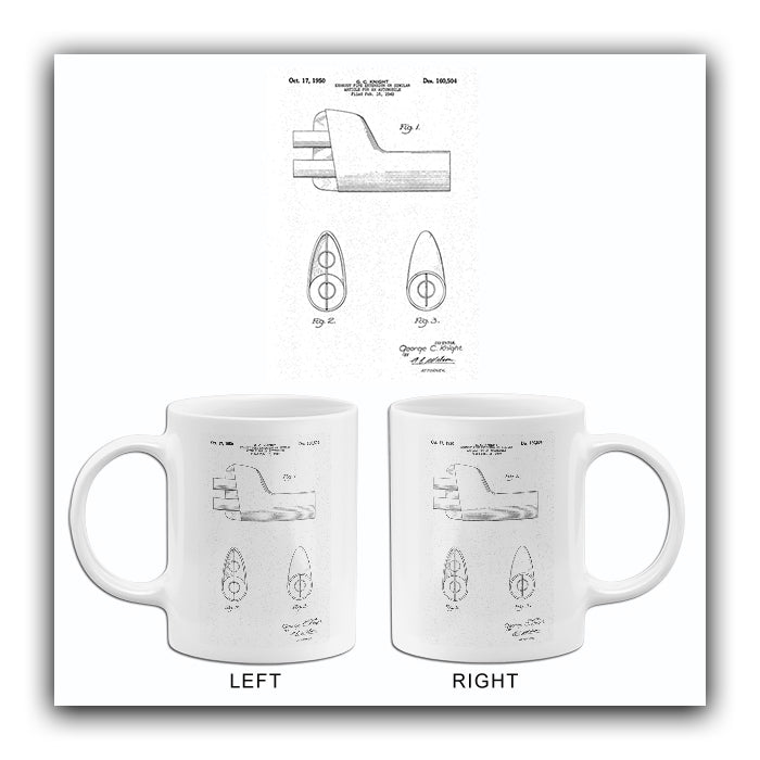 1950 - Automobile Exhaust Pipe Extension - G. C. Knight - Patent Art Mug