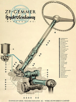 1950 ZF-Gemmer Power Steering - Promotional Advertising Poster