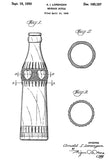 1950 - Beverage Bottle - A. I. Lorenzen - Patent Art Poster