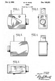 1950 - Camera - W. W. Ward - Patent Art Poster