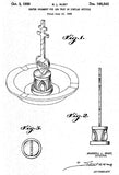 1950 - Center Ornament for Ash Tray - R. L. Rust - Patent Art Poster