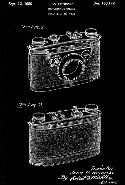 1950 - Photographic Camera - J. O. Reinecke - Patent Art Poster