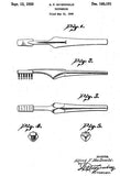 1950 - Toothbrush - A. F. MacDonald - Patent Art Mug