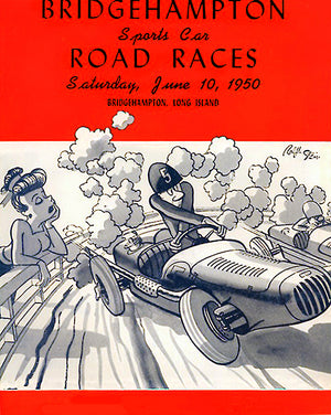 1950 Bridgehampton Sports Car Road Races - New York - Program Cover Poster