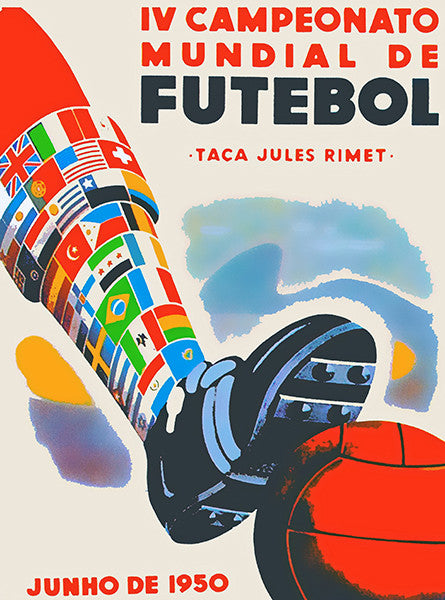 1950 FIFA World Cup - Brazil - Promotional Advertising Poster