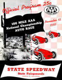 1950 National Championship Auto Race - State Speedway Arizona - Program Cover Poster