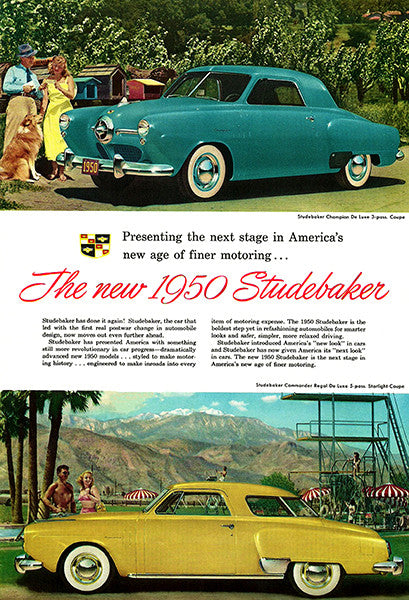 1950 Studebaker - The New Studebaker - Promotional Advertising Poster