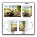 1950's Saab 92 - Promotional Advertising Mug