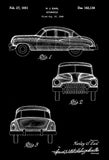 1951 - Cadillac - H. J. Earl - Patent Art Poster