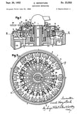 1952 - Curta - Zeroizing Mechanism - Patent Art Poster