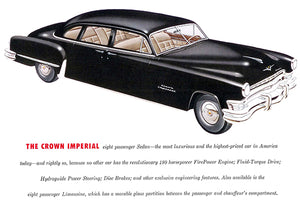 1952 Chrysler Crown Imperial Eight Passenger Sedan - Promotional Advertising Poster