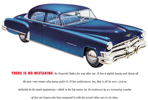 1952 Chrysler Imperial Sedan - Promotional Advertising Poster