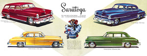 1952 Chrysler Saratoga Line - Promotional Advertising Poster