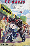 1952 Isle of Man TT Motorcycle Race - Program Cover Poster