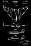 1953 - Flying Wing - Airplane - V. J. Burnelli - Patent Art Poster