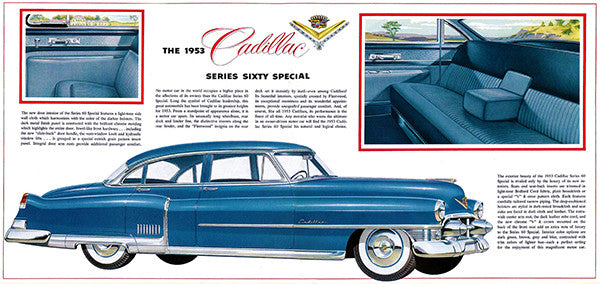 1953 Cadillac Series Sixty Special - Promotional Advertising Poster