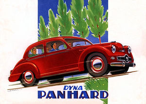 1953 Dyna Panhard - Promotional Advertising Magnet
