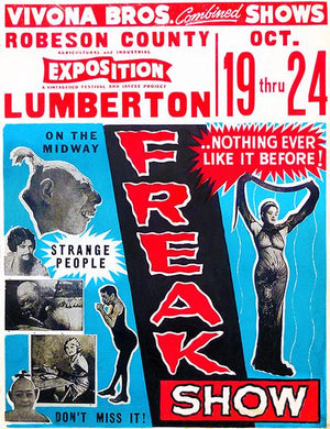 1953 Vivona Brothers Combined Show - Freak Show - Advertising Magnet