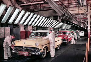 1954 Fords - Dearborn Assembly Plant - Promotional Photo Magnet