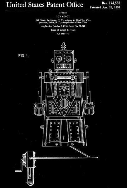 1955 - Robert The Toy Robot - S. Noble - Patent Art Mug