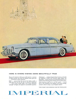 1955 Chrysler Imperial #2 - Promotional Advertising Poster