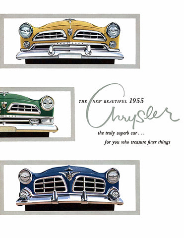 1955 Chrysler Line - Promotional Advertising Poster