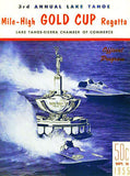 1955 Mile-High Gold Cup Regatta Boat Race - Lake Tahoe - Program Cover Magnet