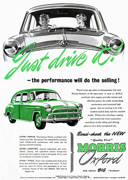 1955 Morris Oxford - Promotional Advertising Poster