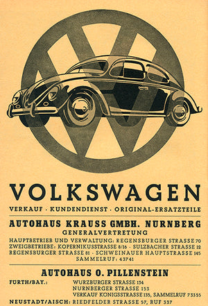 1955 Volkwagen VW Beetle - Germany - Promotional Advertising Poster