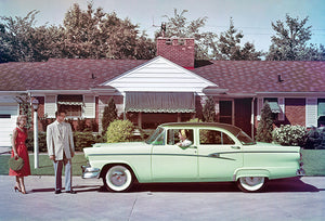 1956 Ford Customline Fordor Sedan - Promotional Photo Poster