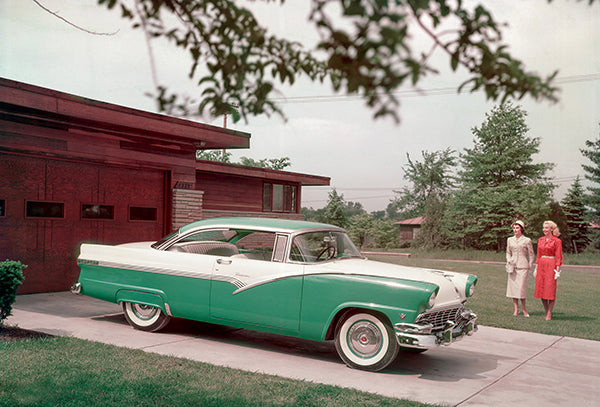 1956 Ford Fairlane Victoria Hardtop Coupe - Promotional Photo Poster