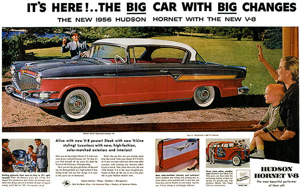 1956 Hudson Hornet V8 - Promotional Advertising Poster