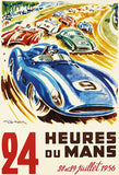 1956 24 Hours of Le Mans Race - Promotional Advertising Poster