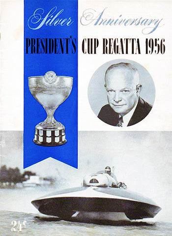 1956 President's Cup Regatta Boat Race - Promotional Advertising Poster