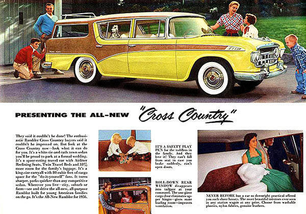 1956 Rambler Cross Country - Promotional Advertising Poster