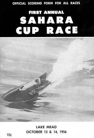 1956 Sahara Cup Boat Race - Lake Mead - Promotional Advertising Poster