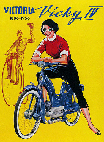 1956 Victoria Vicky IV - Moped - Promotional Advertising Poster