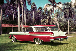 1957 Mercury Commuter Station Wagon Prototype - Promotional Photo Poster