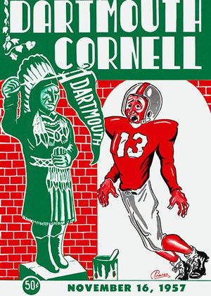 1957 Dartmouth vs Cornell Football Game - Program Cover Magnet