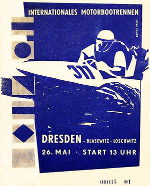 1957 Dresden International Motor Boat Race - Program Cover Magnet