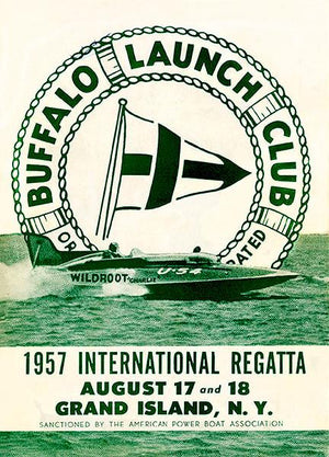 1957 International Regatta - Buffalo Launch Club - Grand Island NY - Program Cover Mug