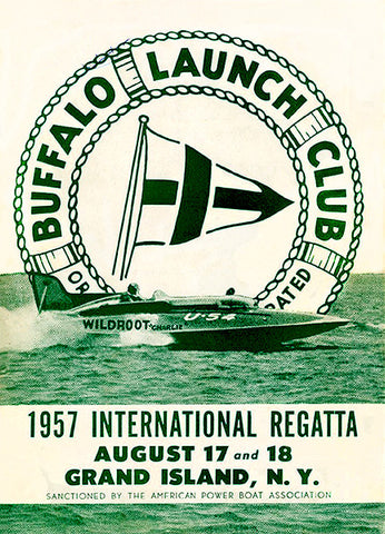 1957 International Regatta - Buffalo Launch Club - Grand Island NY - Program Cover Poster