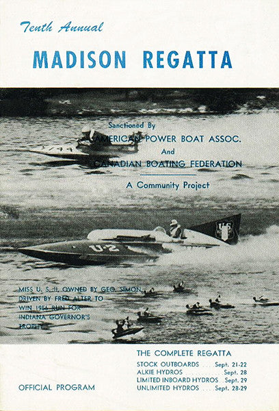 1957 Madison Regatta Boat Race - Madison Indiana - Program Cover Poster