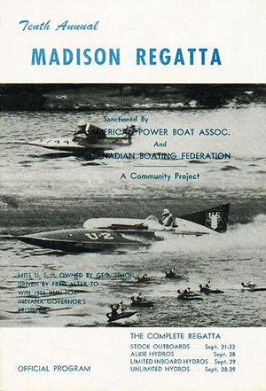 1957 Madison Regatta Boat Race - Madison Indiana - Program Cover Magnet