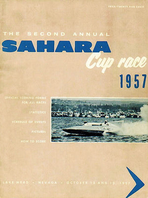 1957 Sahara Cup Boat Race - Lake Mead Nevada - Program Cover Poster