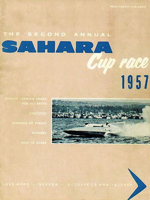 1957 Sahara Cup Boat Race - Lake Mead Nevada - Program Cover Magnet