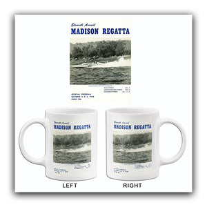 1958 Madison Regatta Boat Race - Madison Indiana - Program Cover Mug