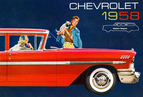 1958 Chevrolet Station Wagons - Promotional Advertising Poster