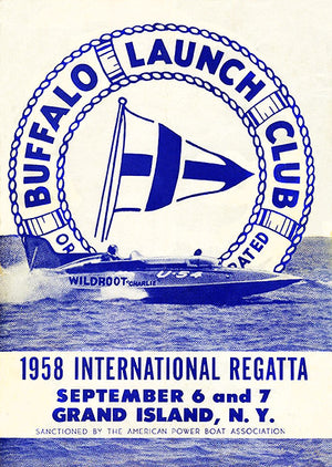 1958 International Regatta - Buffalo Launch Club - Grand Island NY - Program Cover Poster