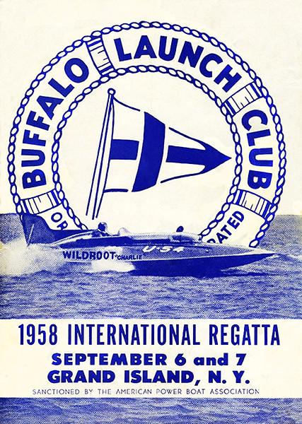 1958 International Regatta - Buffalo Launch Club - Grand Island NY - Program Cover Mug